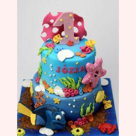 """Торт """"Подводный мир на годик"""""""