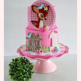 "Торт на 1 год ""Фотография Бэмби"""